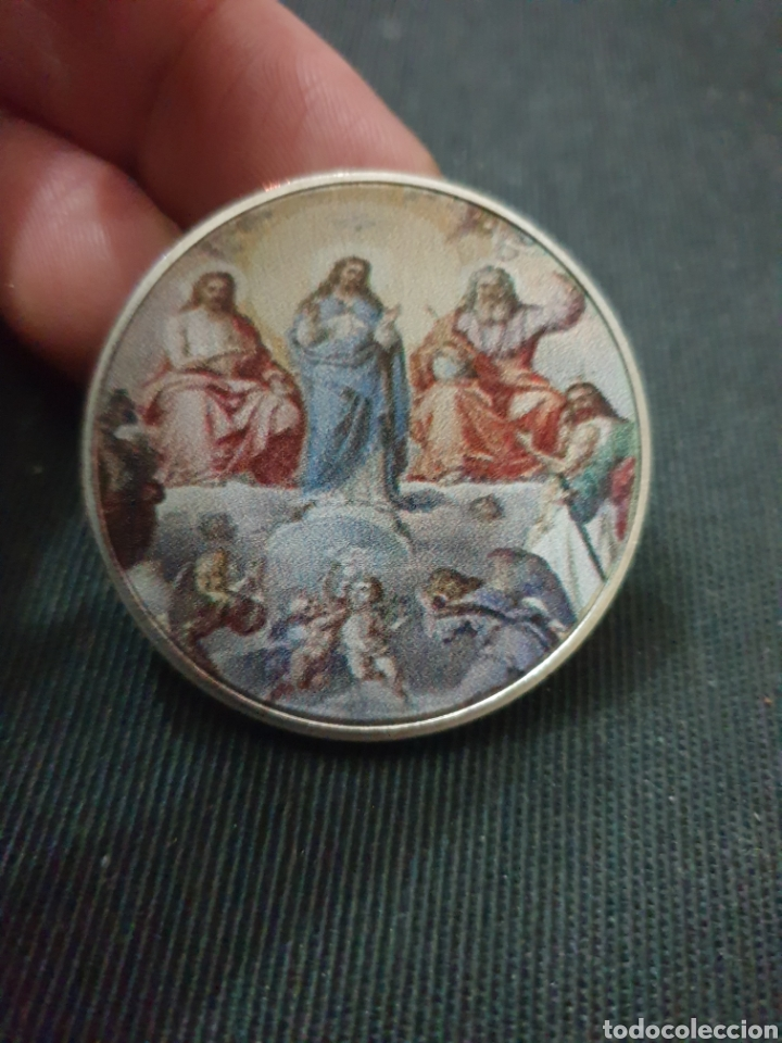 MONEDA ONZA MOTIVO RELIGIOSO (Numismática - Reproducciones)