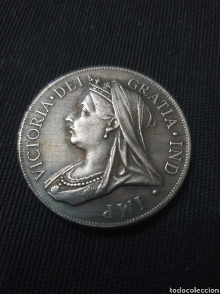 MONEDA 1 FLORIN REINA VICTORIA 1893 (Numismática - Reproducciones)