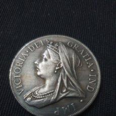 Reproduções notas e moedas: MONEDA 1 FLORIN REINA VICTORIA 1893. Lote 261138630