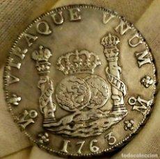 Reproducciones billetes y monedas: RARO COLUMNARIO 8 REALES DE 1763 MÉJICO MM. PLATA. PIEZA A REVISAR DESPACIO.. Lote 261934475