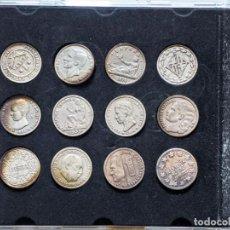 Reproducciones billetes y monedas: COLECCIÓN DE 12 MONEDAS ANTIGUAS DE LA PESETA. REPRODUCCION DE LA VANGUARDIA. VELL I BELL.. Lote 261990570
