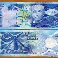 Reproducciones billetes y monedas: BARBADOS 2 DOLARES 2013 P-73 UNC (LEER CONDICIONES DE VENTA EN DESCRIPCION). Lote 261997805
