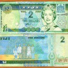 Reproducciones billetes y monedas: FIJI 2 DOLLARS 2002 P 104 UNC (LEER CONDICIONES DE VENTA EN DESCRIPCION). Lote 261997820