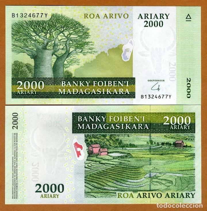 MADAGASCAR 2000 ARIARY (2009) P-90 UNC (LEER CONDICIONES DE VENTA EN DESCRIPCION) (Numismática - Reproducciones)