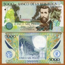 Reproducciones billetes y monedas: COLOMBIA 5000 PESOS 2013 P 452 UNC (LEER CONDICIONES DE VENTA EN DESCRIPCION). Lote 262126010