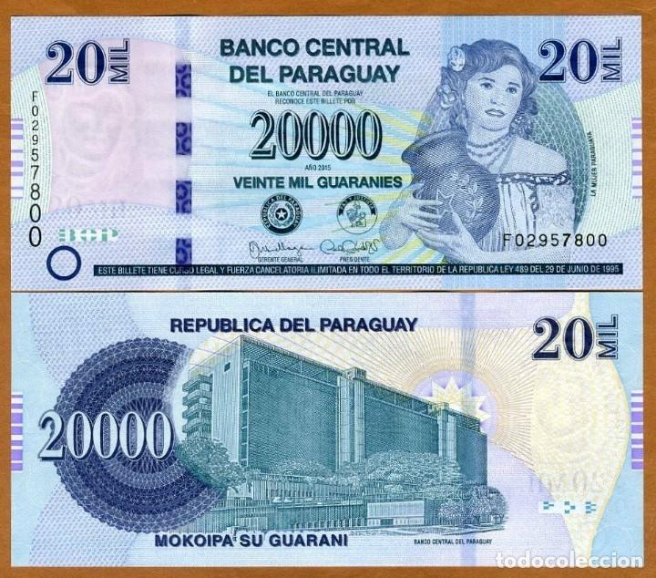 PARAGUAY 20000 GUARANIES 2011-2017 P 235 UNC (LEER CONDICIONES DE VENTA EN DESCRIPCION) (Numismática - Reproducciones)