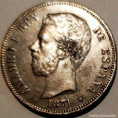 Reproducciones billetes y monedas: 5 PESETAS DE 1871 18-71 AMADEO I. SE VEN LAS ESTRELLAS. PIEZA A REVISAR DESPACIO.. Lote 262131030
