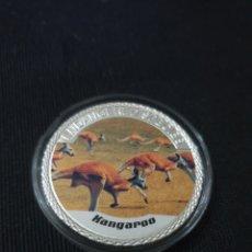 Reproducciones billetes y monedas: MONEDA ONZA 100$ ANIMAL PROTECTION. Lote 262146540