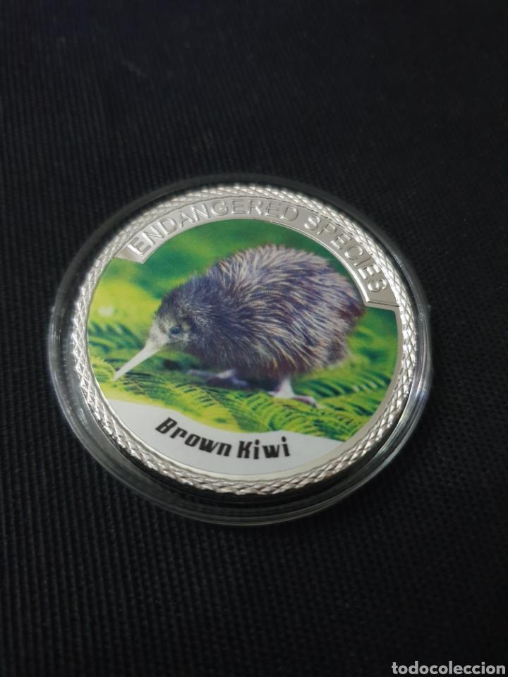 MONEDA ONZA 100$ ANIMAL PROTECTION (Numismática - Reproducciones)