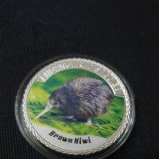 Reproducciones billetes y monedas: MONEDA ONZA 100$ ANIMAL PROTECTION. Lote 262146615
