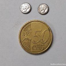 Reproducciones billetes y monedas: MONEDA MINIATURA 8MM - LOTE DE 2 MONEDAS AMADEO REY ESPAÑA. Lote 262518545