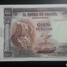 Reproduções notas e moedas: 100 PESETAS 1938 DAMA DE ELCHE REPRODUCCIÓN FNMT. Lote 263153520