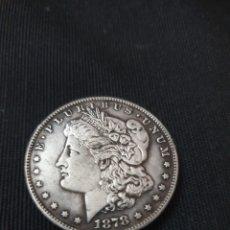 Reproducciones billetes y monedas: MONEDA ONE DOLLAR 1878. Lote 275616928