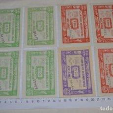 Reproducciones billetes y monedas: 8 BILLETES GUERRA CIVIL - JUNIO 1937 / 3 TIPOS DE VALORES - CONSEJO MUNICIPAL ALCAÑIZ / ¡MIRA FOTOS!. Lote 263574830