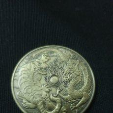 Reproducciones billetes y monedas: MONEDA ONZA TIGRE Y DRAGON. Lote 263611345
