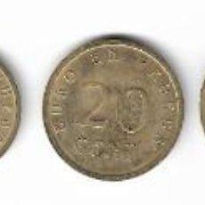 Reproducciones billetes y monedas: SERIE EUROS DE PRUEBA - CHURRIANA (MÁLAGA) - 1998.. Lote 263663395