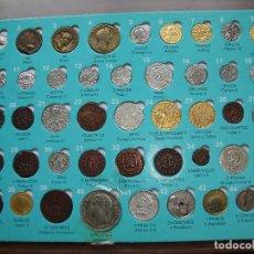 Reproducciones billetes y monedas: MUY INTERESANTE COLECCION DE MONEDAS EN LA HISTORIA DE VALLADOLID CON 45 REPRODUCCIONES DE MONEDAS. Lote 263944190