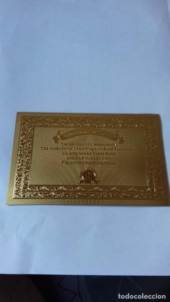 Reproducciones billetes y monedas: Coleccion de Euros en oro laminado - Foto 2 - 265533014