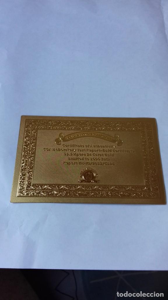 Reproducciones billetes y monedas: Coleccion de Euros en oro laminado - Foto 3 - 265533014