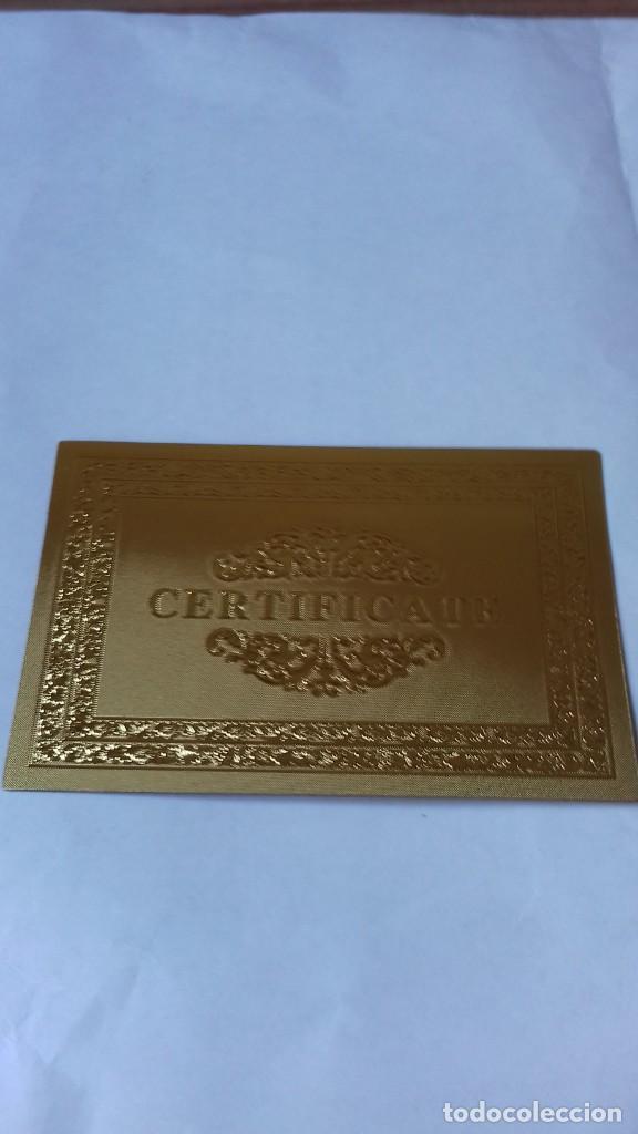 Reproducciones billetes y monedas: Coleccion de Euros en oro laminado - Foto 4 - 265533014