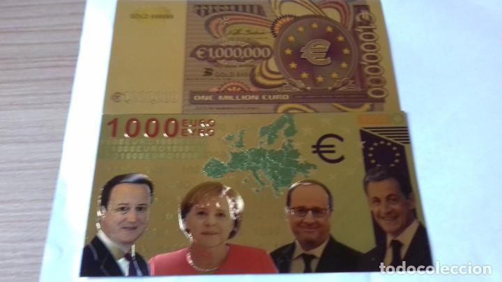 Reproducciones billetes y monedas: Coleccion de Euros en oro laminado - Foto 8 - 265533014