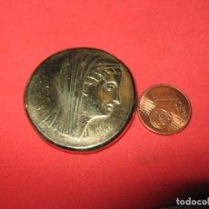 Reproducciones billetes y monedas: PTOLEMAIOS II., 285-246 V. CHR. FÜR ARSINOË II. Ô-OKTODRACHME. BRONCE DORADO. Lote 266268773