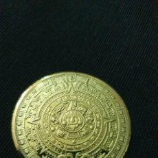 Reproduções notas e moedas: MONEDA CALENDARIO AZTECA MAYA. Lote 266981034