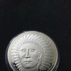 Reproduções notas e moedas: MONEDA ONZA 5 AMEROS AMÉRICA DEL NORTE. Lote 266981094