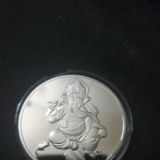 Reproduções notas e moedas: MONEDA CONMEMORATIVA ONZA LNDIA. Lote 267061459