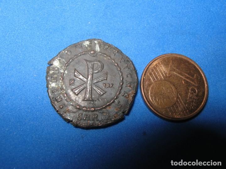 DECENTIUS, CA. 351-353 N.CHR CRUTOGRAMA DUPLA MAJORINA 6,40 GR (Numismática - Reproducciones)
