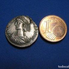 Reproduções notas e moedas: TEODOSIO II (402-450 D.C.). SILVER LIGHT MILIARENSE, CECA DE CONSTANTINOPLA, 408-420 D.C.. Lote 267178609