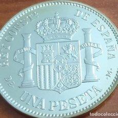 Reproducciones billetes y monedas: MONEDA 1 PESETA 1876 ALFONSO XII CERTIFICADA FNMT 13,50 GR. PLATA 925/1000. Lote 267773184
