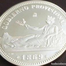 Reproducciones billetes y monedas: MONEDA 1 PESETA 1869 GOBIERNO PROVISIONAL CERTIFICADA FNMT DE 13,50 GR. EN PLATA 925/1000. Lote 267773804