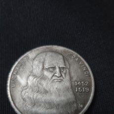 Reproducciones billetes y monedas: MONEDA LEONARDO DAVINCI 1452-1519. Lote 268733944