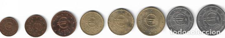 Reproducciones billetes y monedas: SERIE EUROS DE PRUEBA - CHURRIANA (Málaga) - 1998. - Foto 2 - 268924574