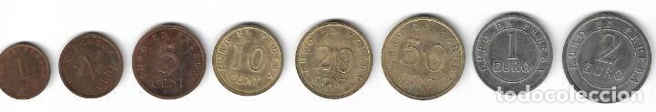 SERIE EUROS DE PRUEBA - CHURRIANA (MÁLAGA) - 1998. (Numismática - Reproducciones)