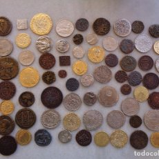 Reproduções notas e moedas: LOTE DE 71 MONEDAS REPRODUCCIÓN. MURCIA. Lote 268950334