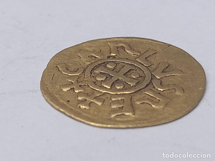 Reproducciones billetes y monedas: MONEDA ORO BARCINOMA - CARLVS REX - Foto 3 - 269274928