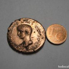 Reproducciones billetes y monedas: NERONI CLAUDIUS CAESAR AUG, MONEDAS DE BRONCE 13,99 GR. Lote 269622308