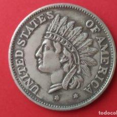 Reproducciones billetes y monedas: MONEDA DE 1 DOLAR USA DE 1851. REPRODUCCIÓN. Lote 269625668
