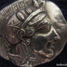 Reproducciones billetes y monedas: TETRADRACMA ATENAS PLATA. Lote 269720358
