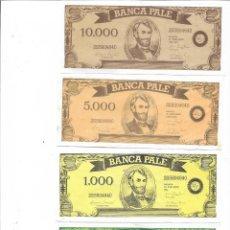 Reproducciones billetes y monedas: BILLETES FUL **JUEGO PALE **. Lote 270456153