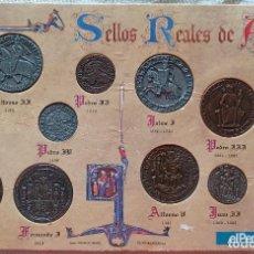 Reproducciones billetes y monedas: SELLOS REALES DE ARAGÓN. Lote 270527098