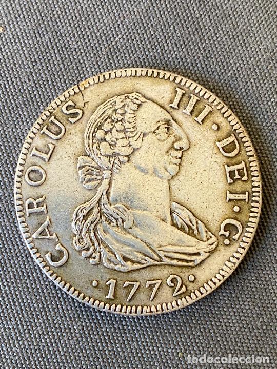 CARLOS III , MONEDA DE PLATA , COPIA , 1772 . 8 REALES (Numismática - Reproducciones)