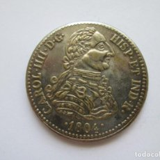 Reproducciones billetes y monedas: CARLOS IIII * 8 ESCUDOS 1804 * REPRODUCCION. Lote 272004368
