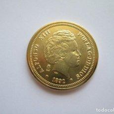 Reproducciones billetes y monedas: ALFONSO XIII * 20 PESETAS 1892 * REPRODUCCION. Lote 272004473