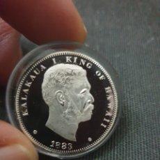 Reproduções notas e moedas: MONEDA REY DE HAWAII 1883. Lote 274290998