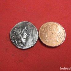 Reproduções notas e moedas: SEXTO POMPEYO AR DENARIO, 42/38 A. C. BC, MENTA SICILIANA, Q. NASIDIUS; 3,43 G.. Lote 274584988