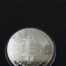 Reproducciones billetes y monedas: MONEDA ARTÍSTICA BITCOIN. Lote 275616293