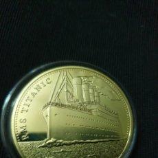 Reproducciones billetes y monedas: MONEDA ONZA TITANIC. Lote 275616428
